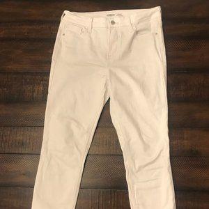 Old Navy White Rockstar Super Skinny Jeans
